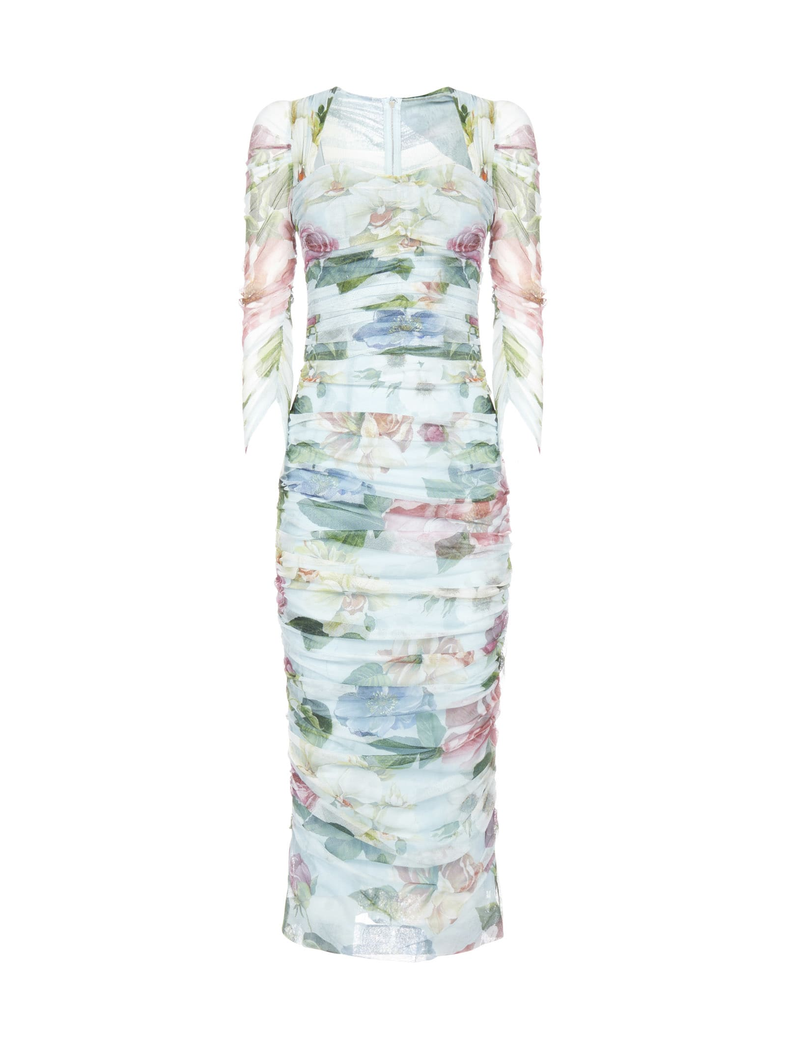 Buy Chiffon Fiori Ombre Dress online, shop Dolce & Gabbana with free shipping