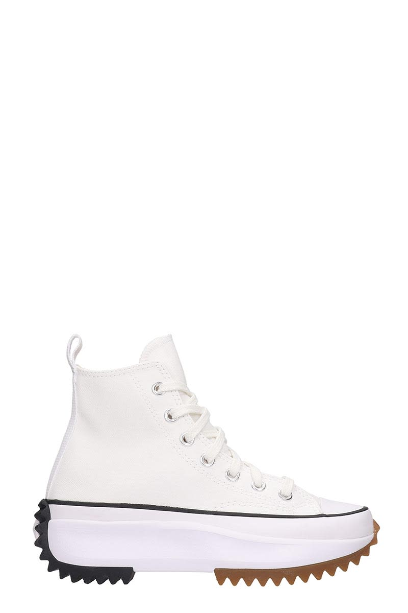 Converse RUN STAR HIKE SNEAKERS IN WHITE CANVAS