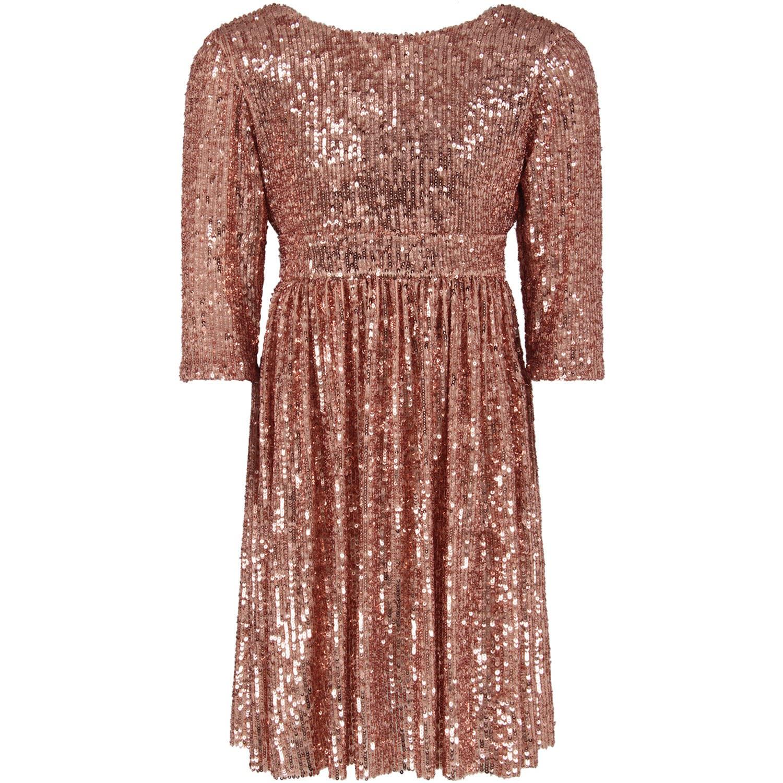 Le Gemelline by Feleppa Pink Girl elsa Dress With Sequins