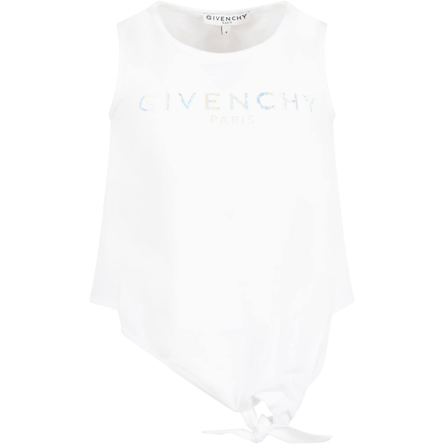 Givenchy Kids' White Tank Top For Girl