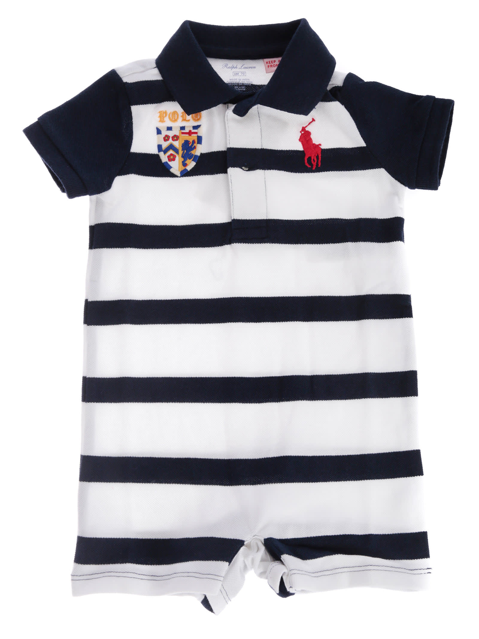 Lauren Striped Polo Ralph Rompers Print n0Ovm8Nw