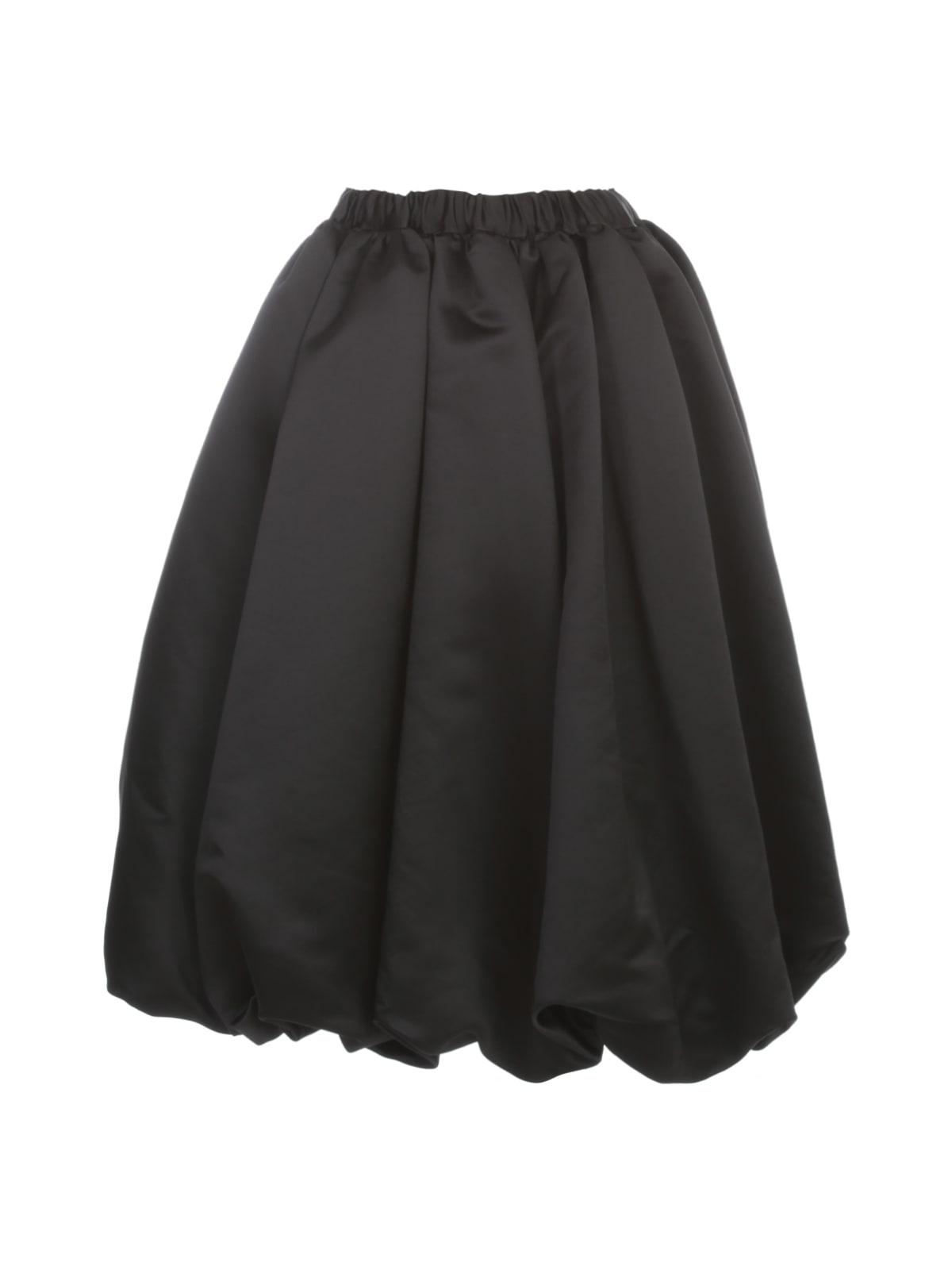 Comme des Garçons Thick Polyester Satin Balloon Skirt Elastic Waist