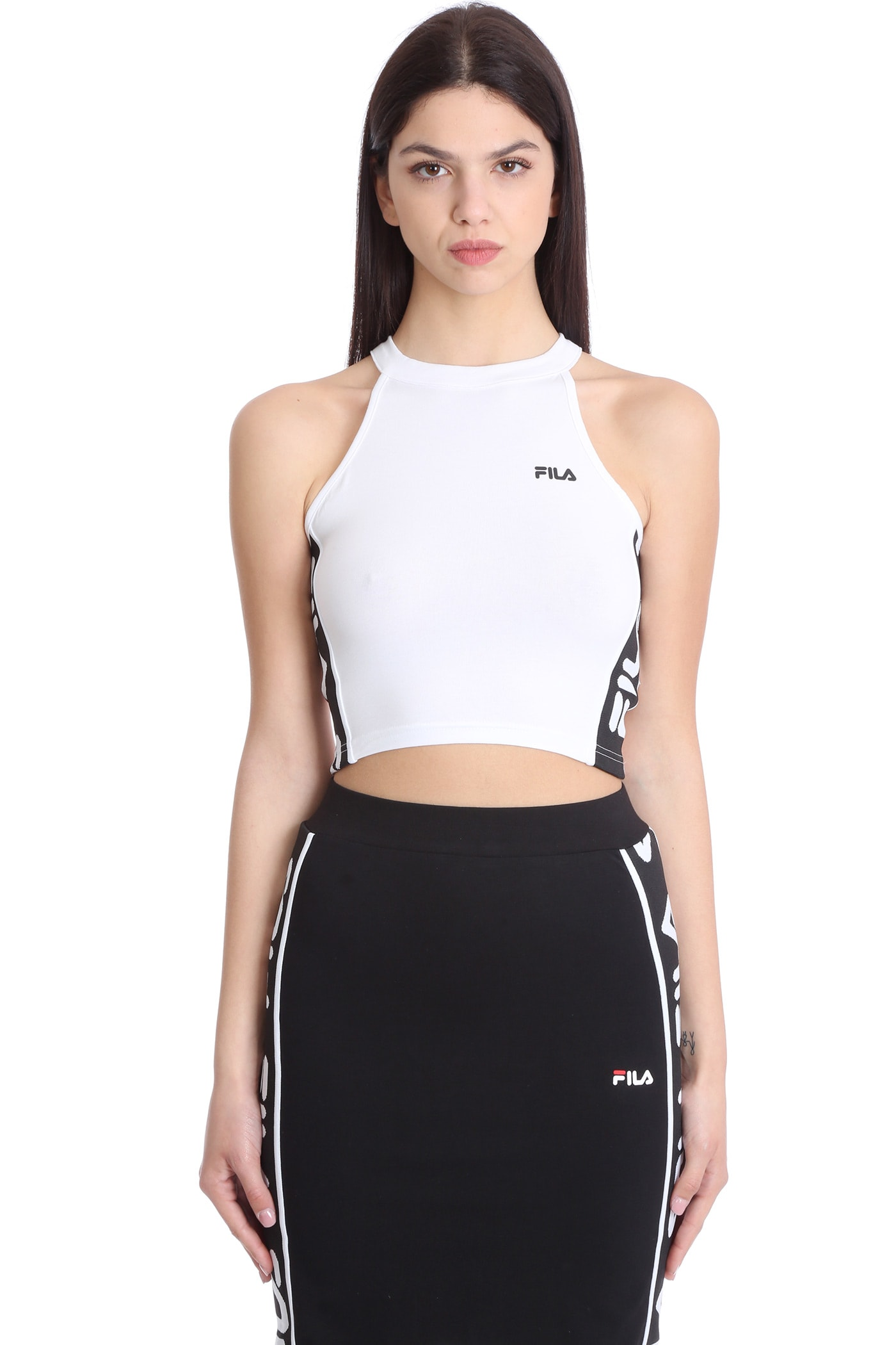Fila TAMA SPORT T-SHIRTS & TOPS IN WHITE POLYESTER