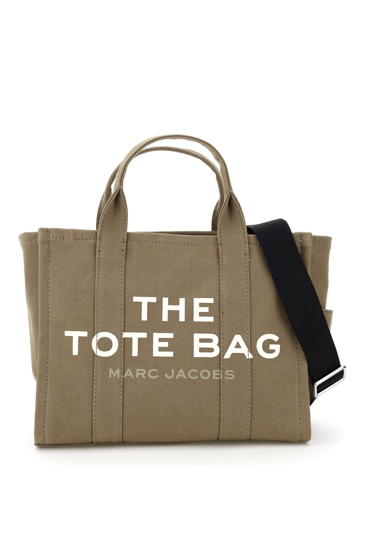 The Small Traveler Tote Bag In Slate Green (khaki)