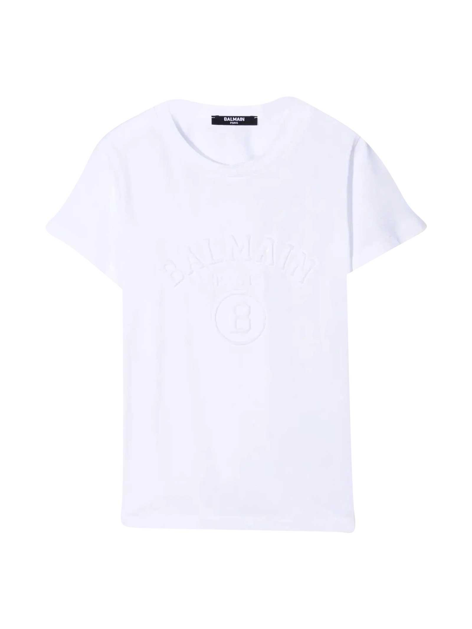 Balmain Clothing WHITE TEEN T-SHIRT