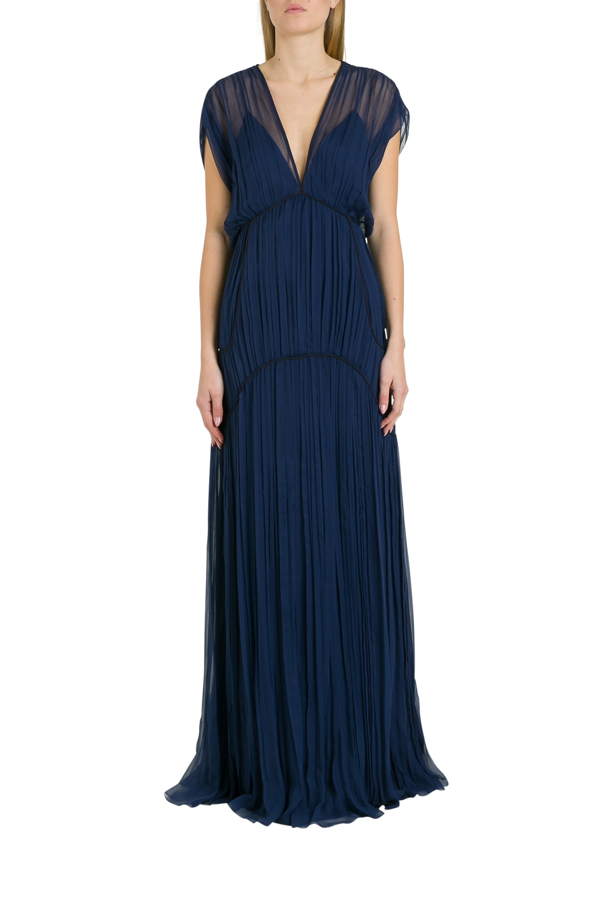 Buy Alberta Ferretti Empire Waist Maxi Dress online, shop Alberta Ferretti with free shipping