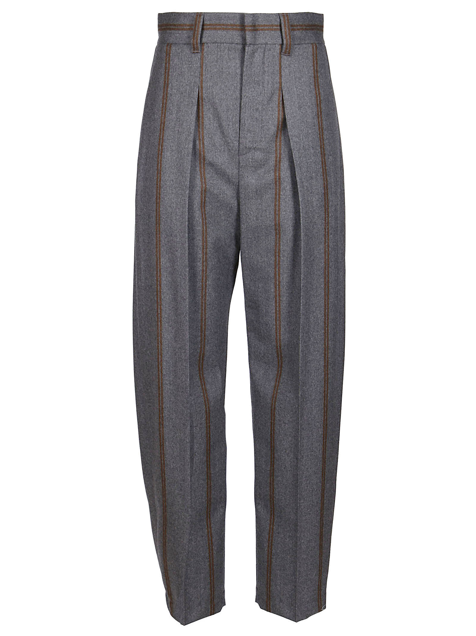 Brunello Cucinelli Grey Virgin Wool Trousers