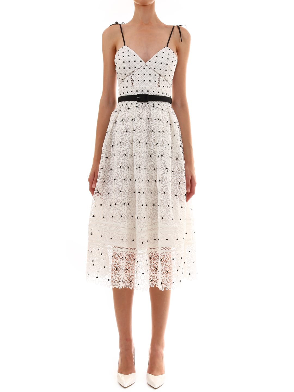 self-portrait Hibiscus Midi Dress