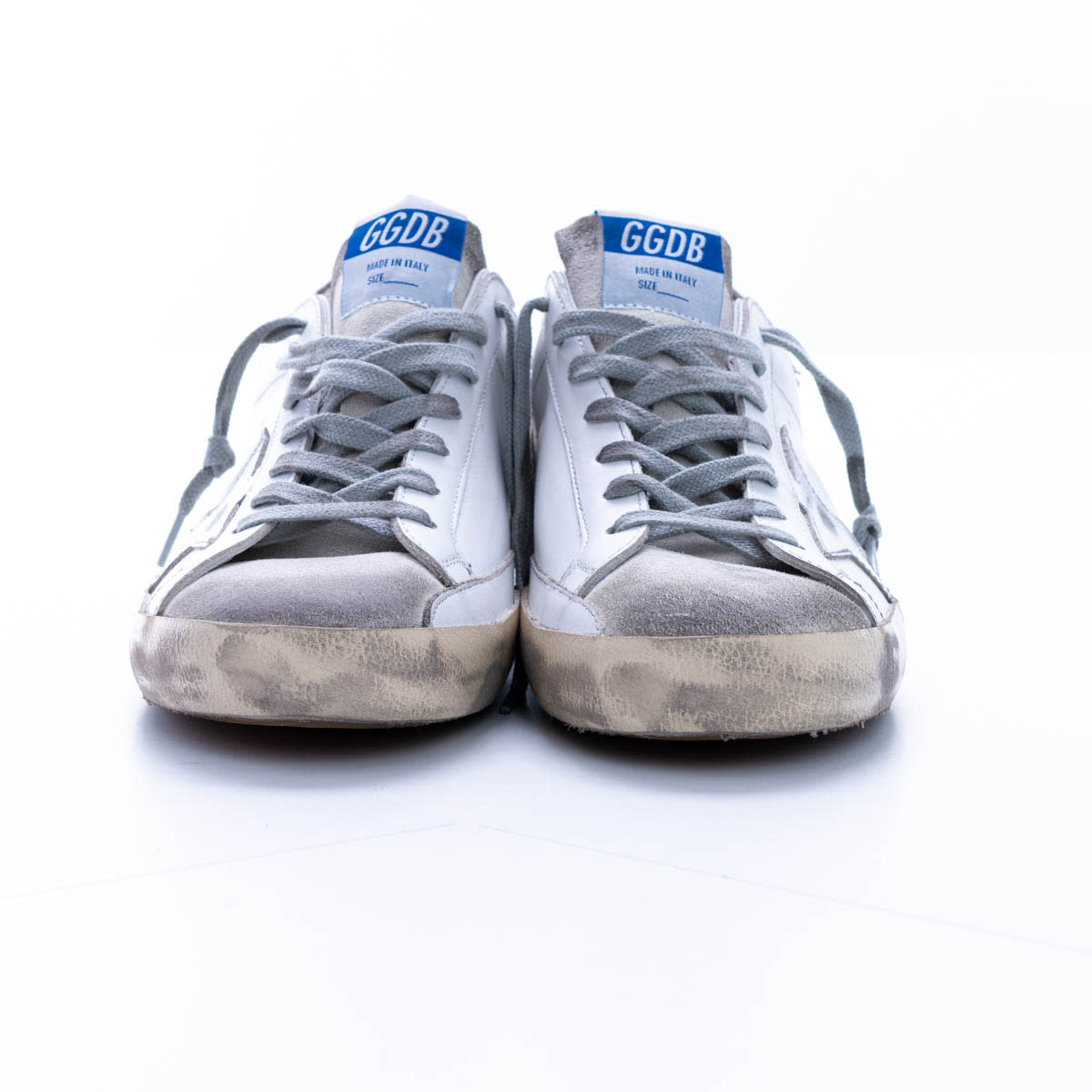 Golden Goose Super Star Leather Sneaker In White - Ice - Silver - Beige