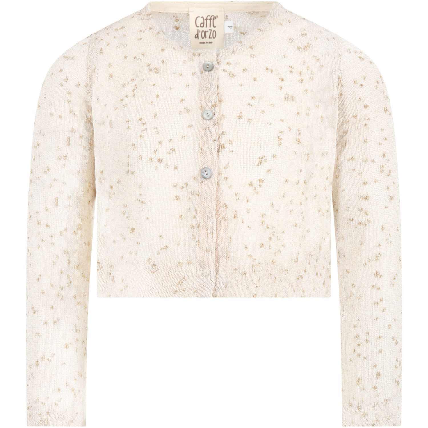 Caffe' D'orzo BEIGE MATILDA CARDIGAN FOR GIRL
