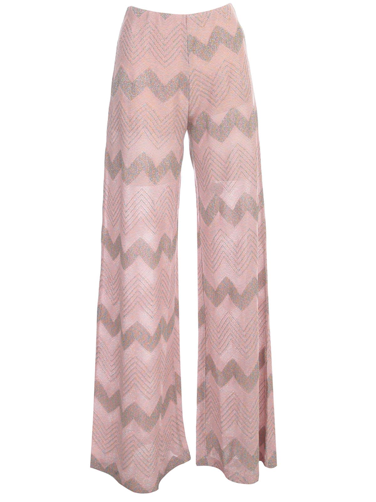M Missoni Pants Flared Zig Zag Lurex