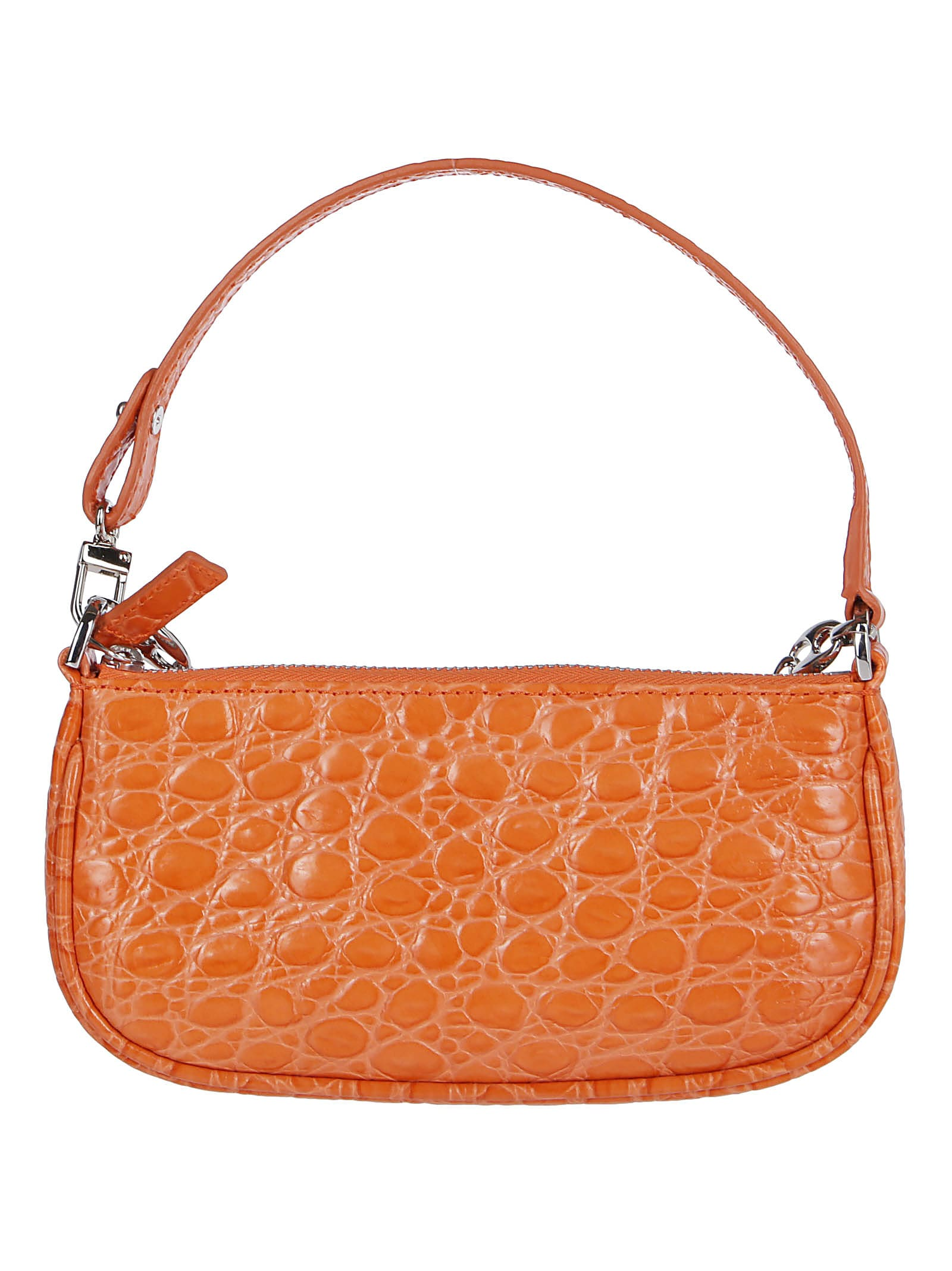 By Far Orange Leather Miranda Mini Bag