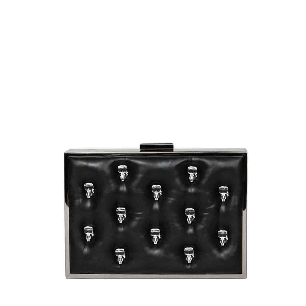 Karl Lagerfeld K/IKONIK MINAUDIERE CLUTCH BAG