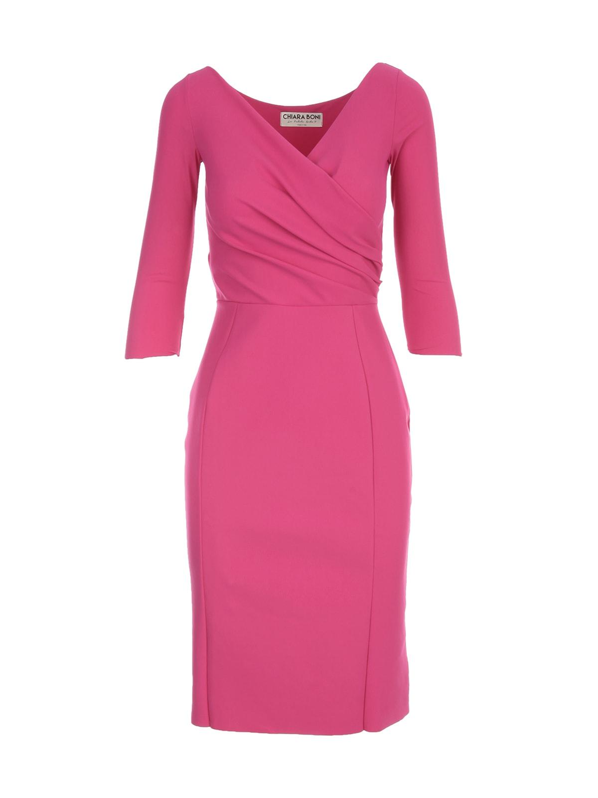 Pencil V Neck 3/4s Dress