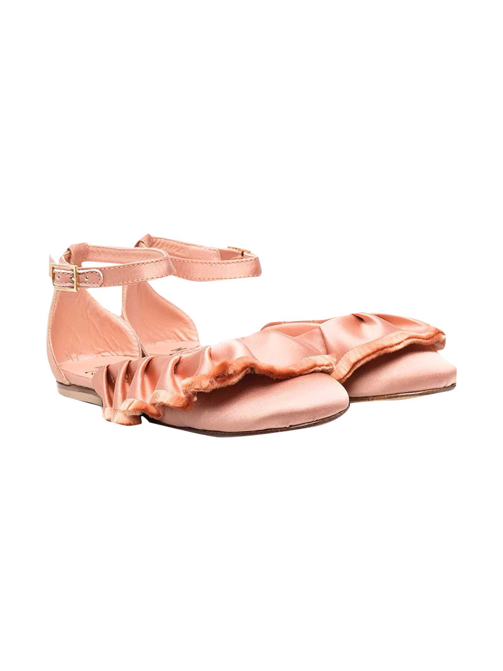Ballet Flats With Ruffles Elisabetta Franchi My Child
