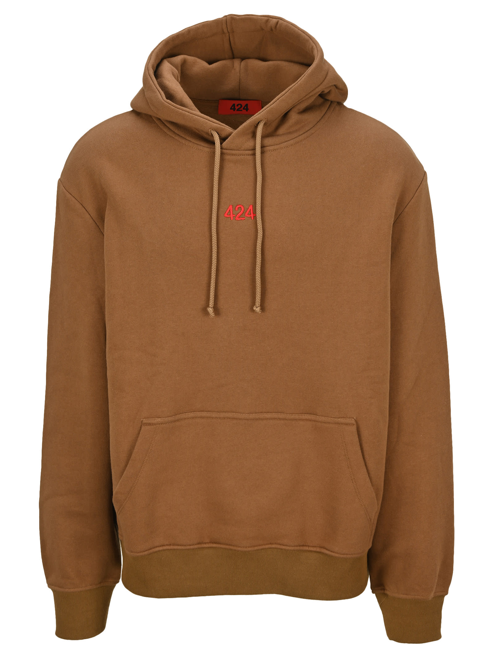 Fourtwofour On Fairfax Cottons 424 EMBROIDERED LOGO HOODIE