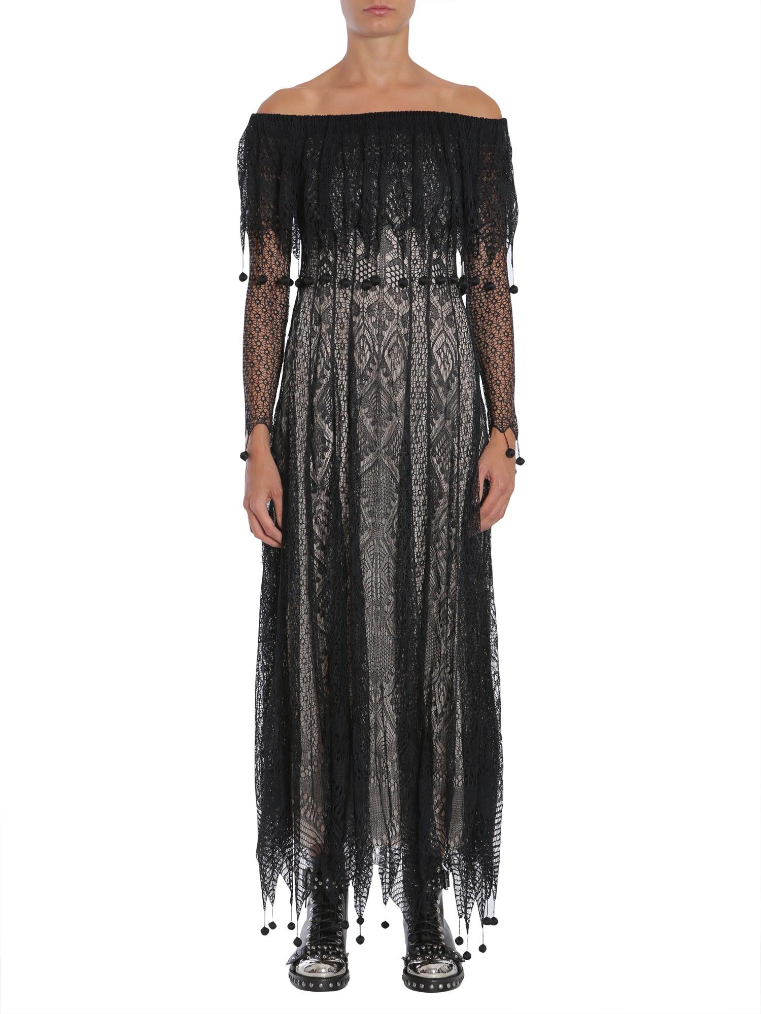 Alexander McQueen Off The Shoulder Dress