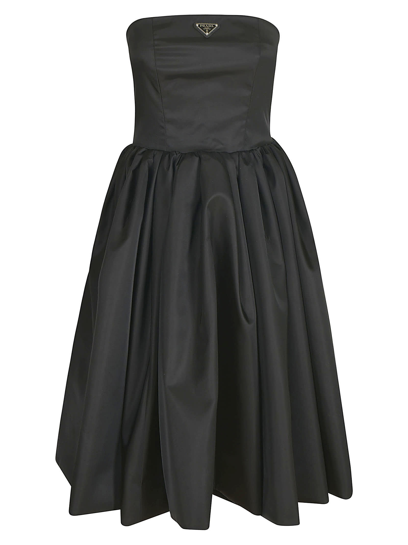 Prada Pleated Flared Dress