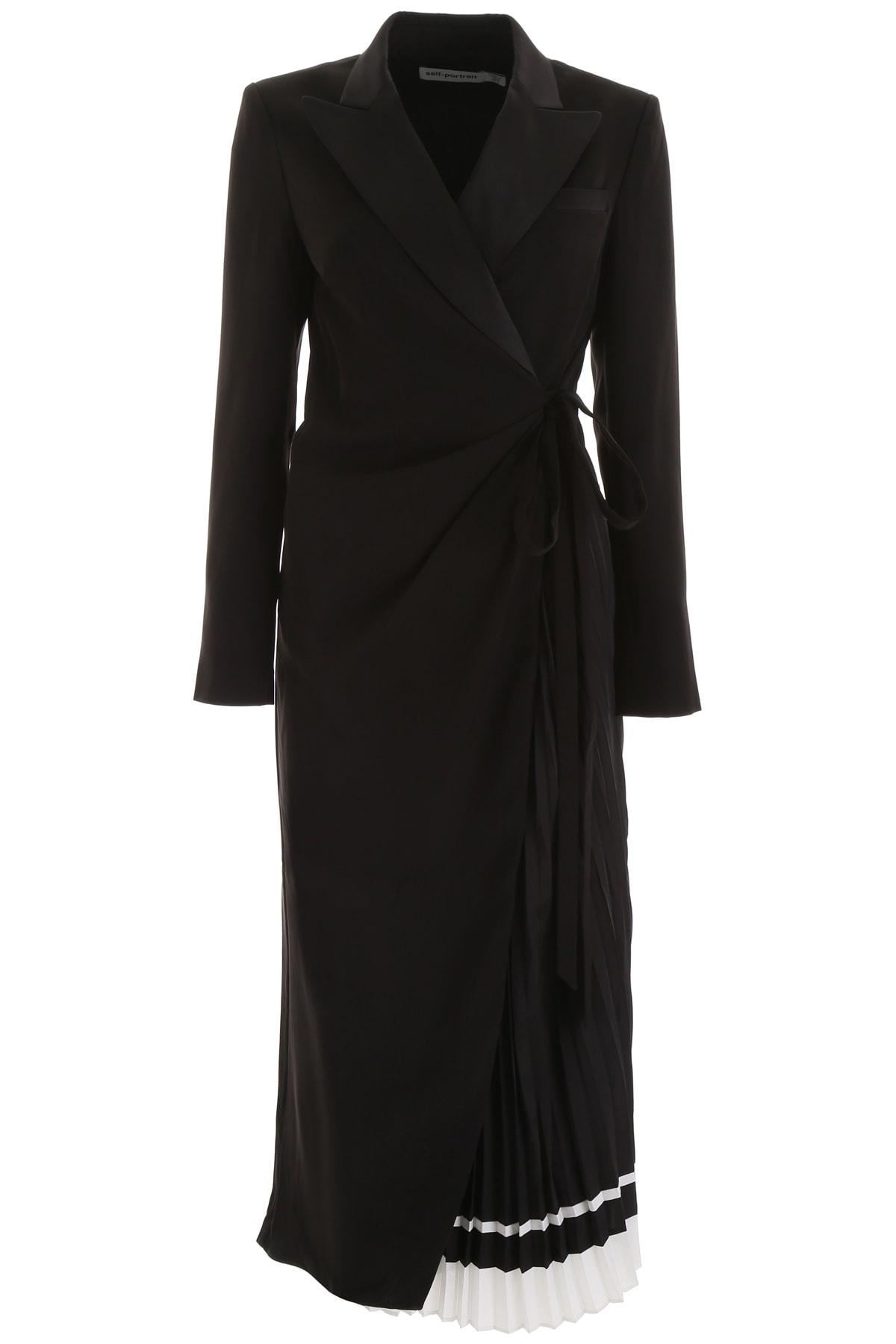 self-portrait Midi Wrap Dress