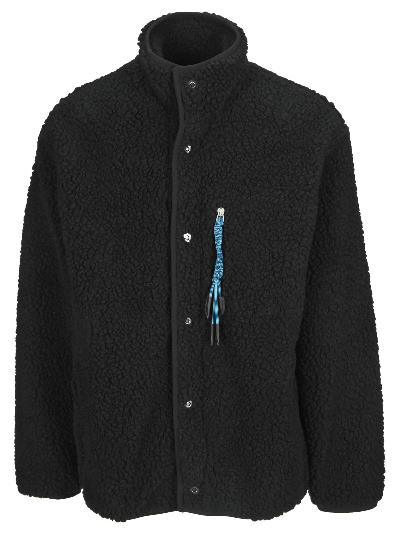 Palm Angels Braid-detail Fleece Jacket