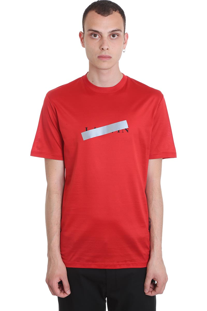 Lanvin T-shirt In Red Cotton