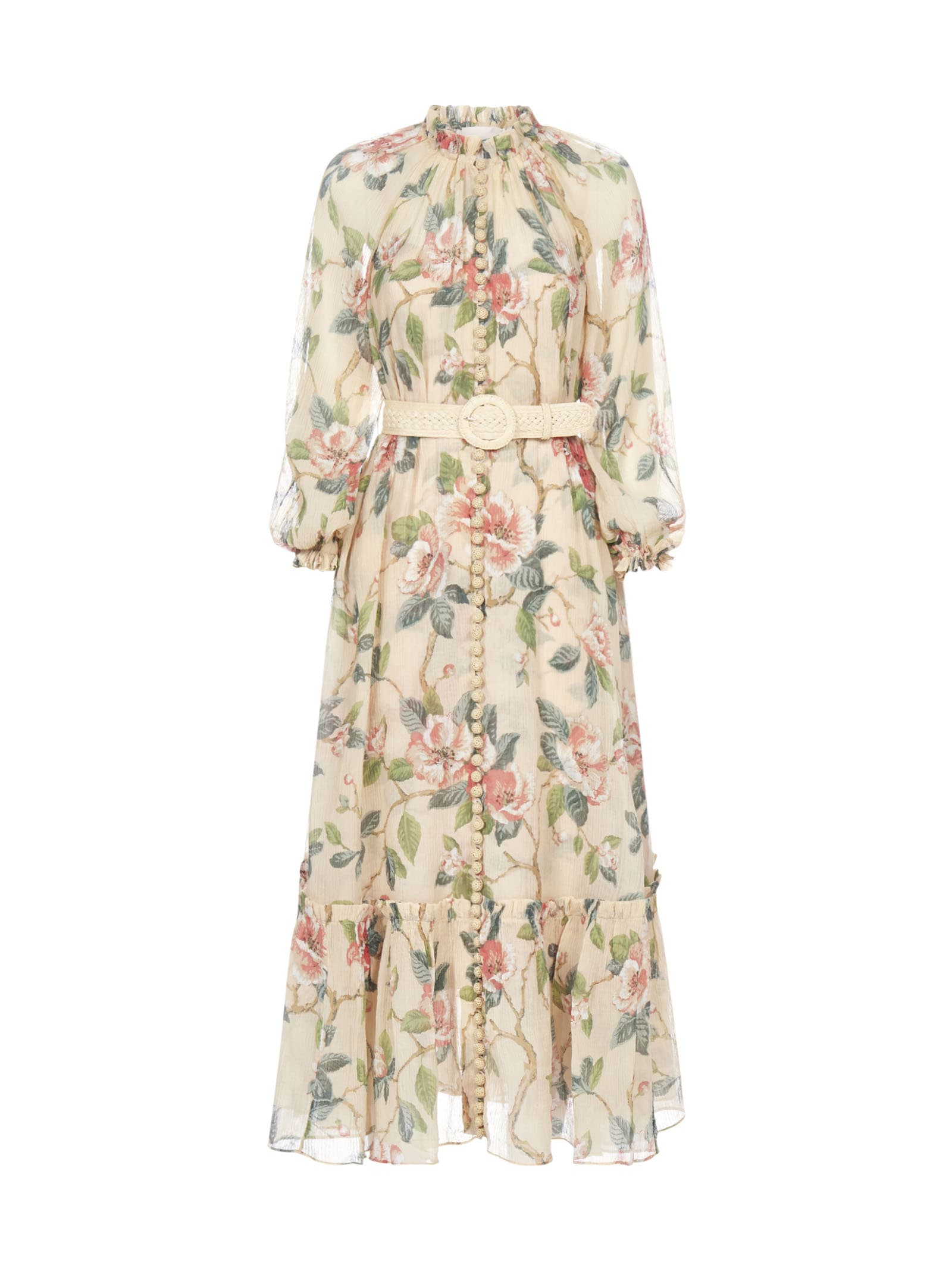 Buy Zimmermann Kirra With Belt Dress online, shop Zimmermann with free shipping