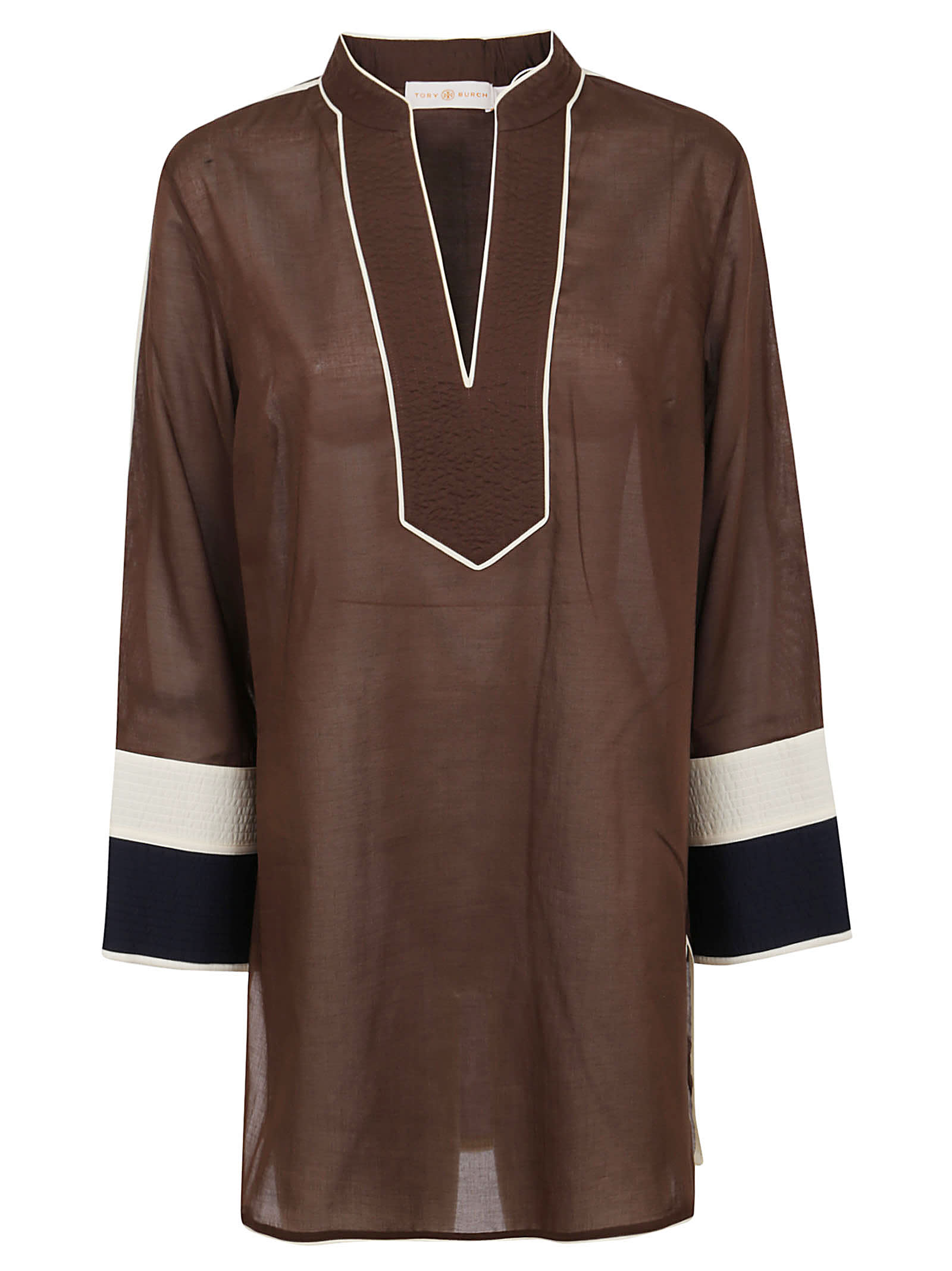 Buy Tory Burch Color-blocked Tunic online, shop Tory Burch with free shipping