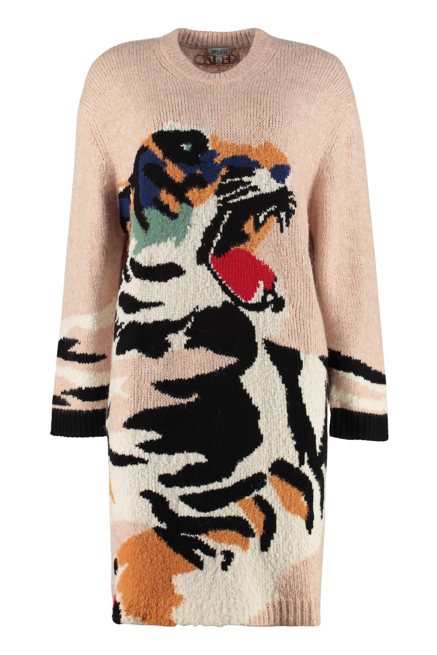 Kenzo Intarsia Sweater-dress