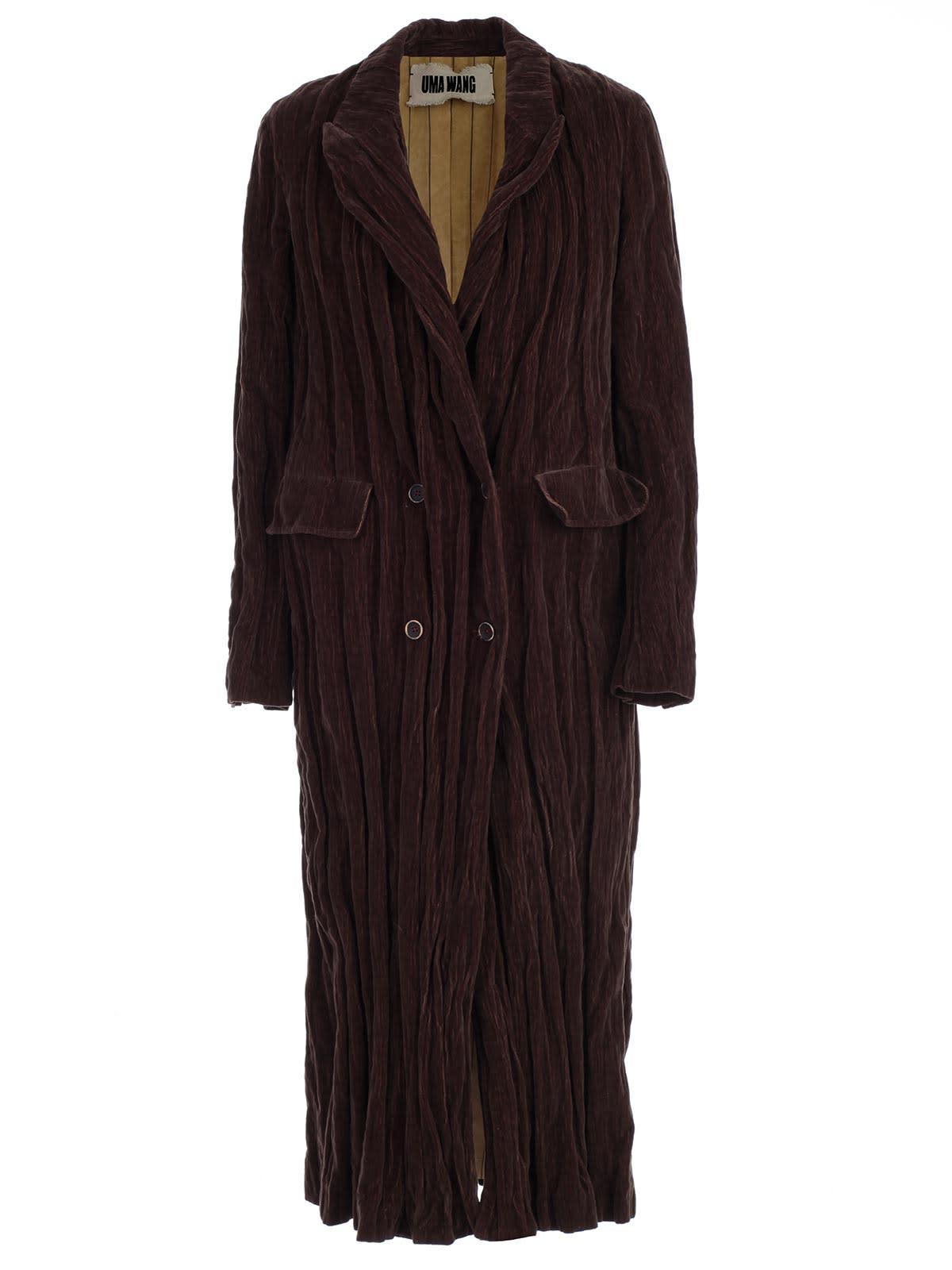 Uma Wang Coat Over Velvet