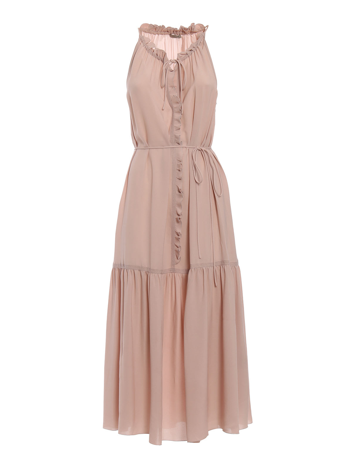 Photo of  Bottega Veneta Georgette Dress- shop Bottega Veneta  online sales
