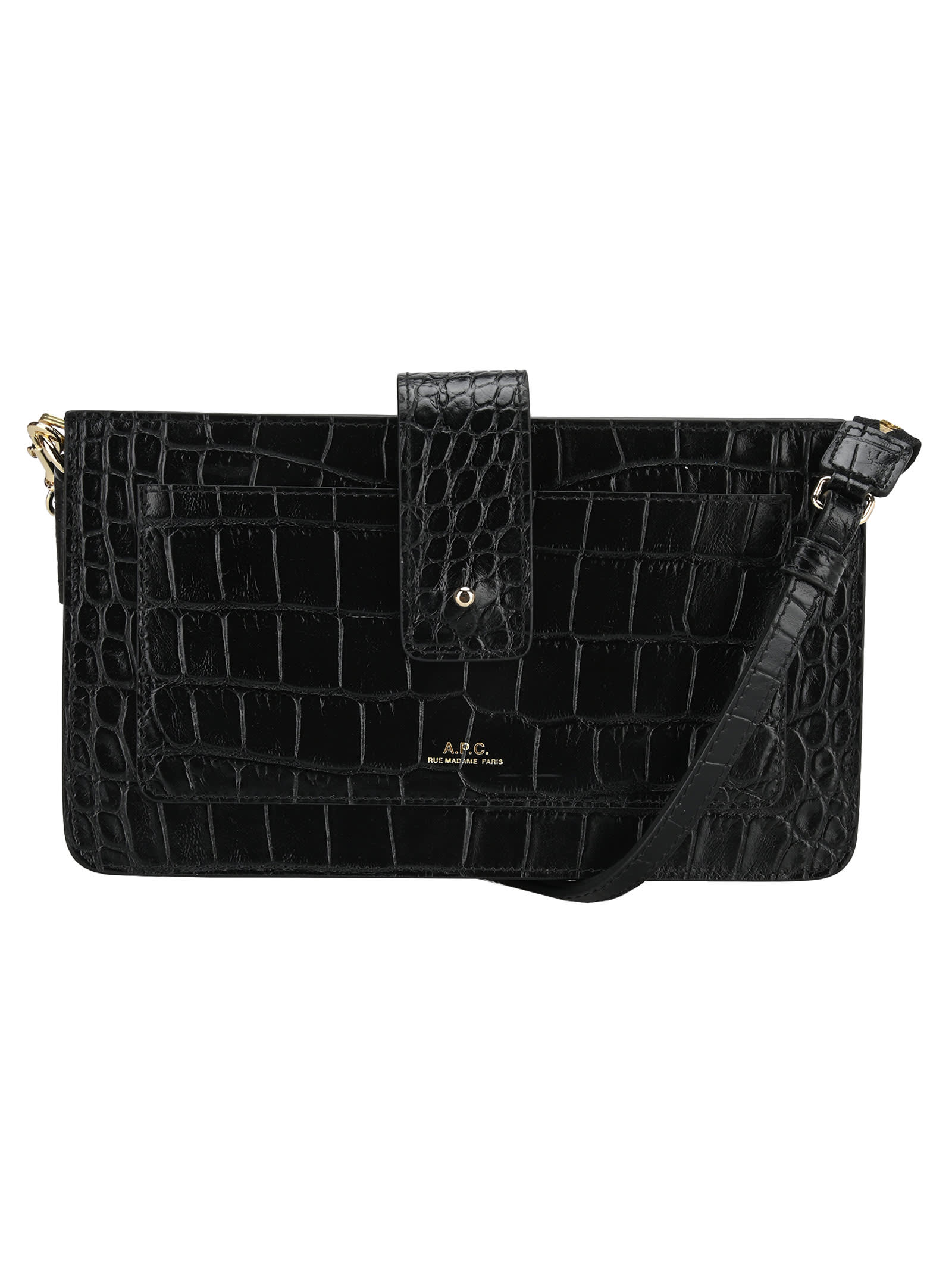 A.p.c. A.P.C. ALBANE CLUTCH EMBOSSED IN CROCO MOTIF