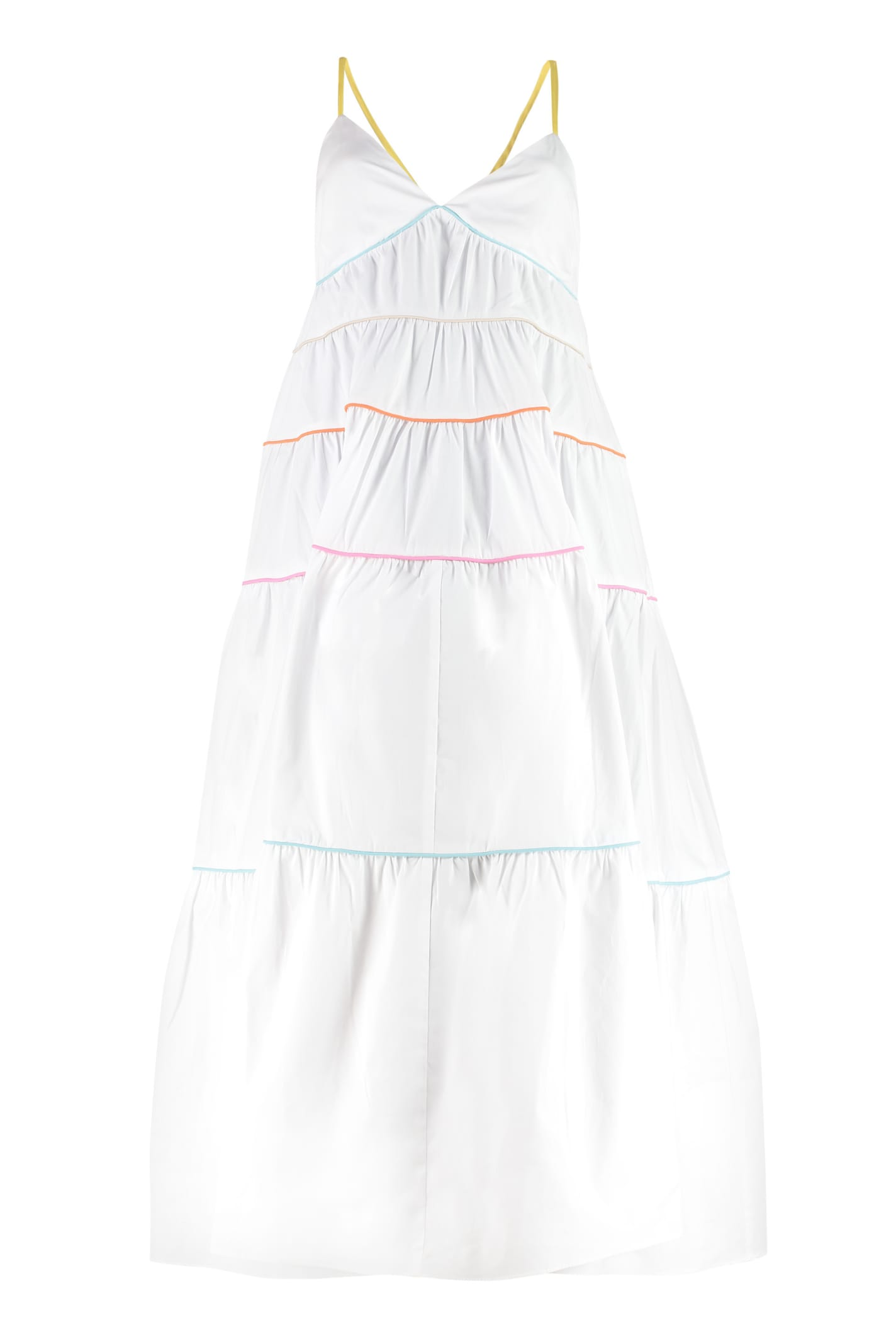 Buy STAUD Cleo Cotton Long Dress online, shop STAUD with free shipping