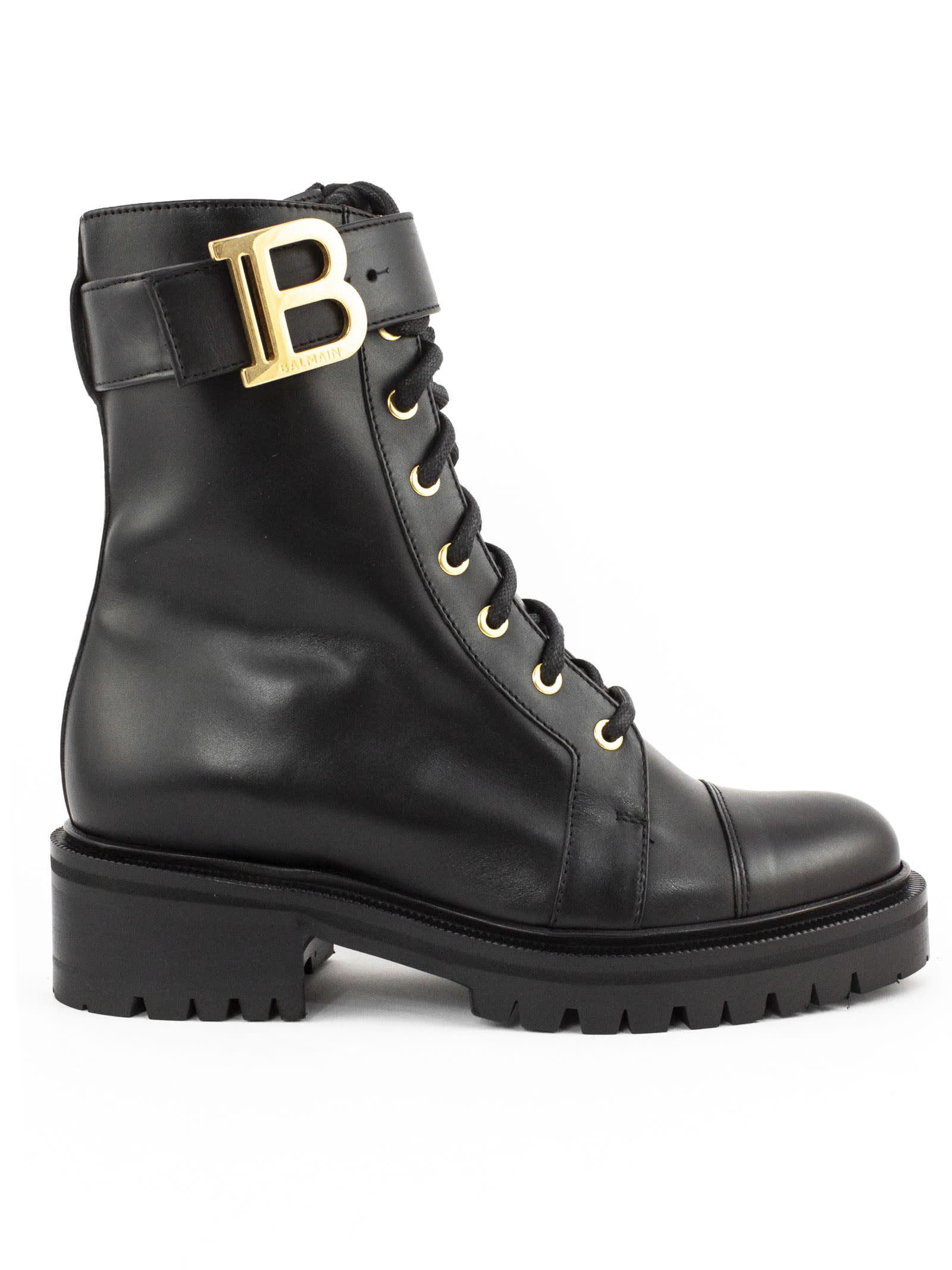 Balmain BLACK RANGER ROMY ANKLE BOOTS