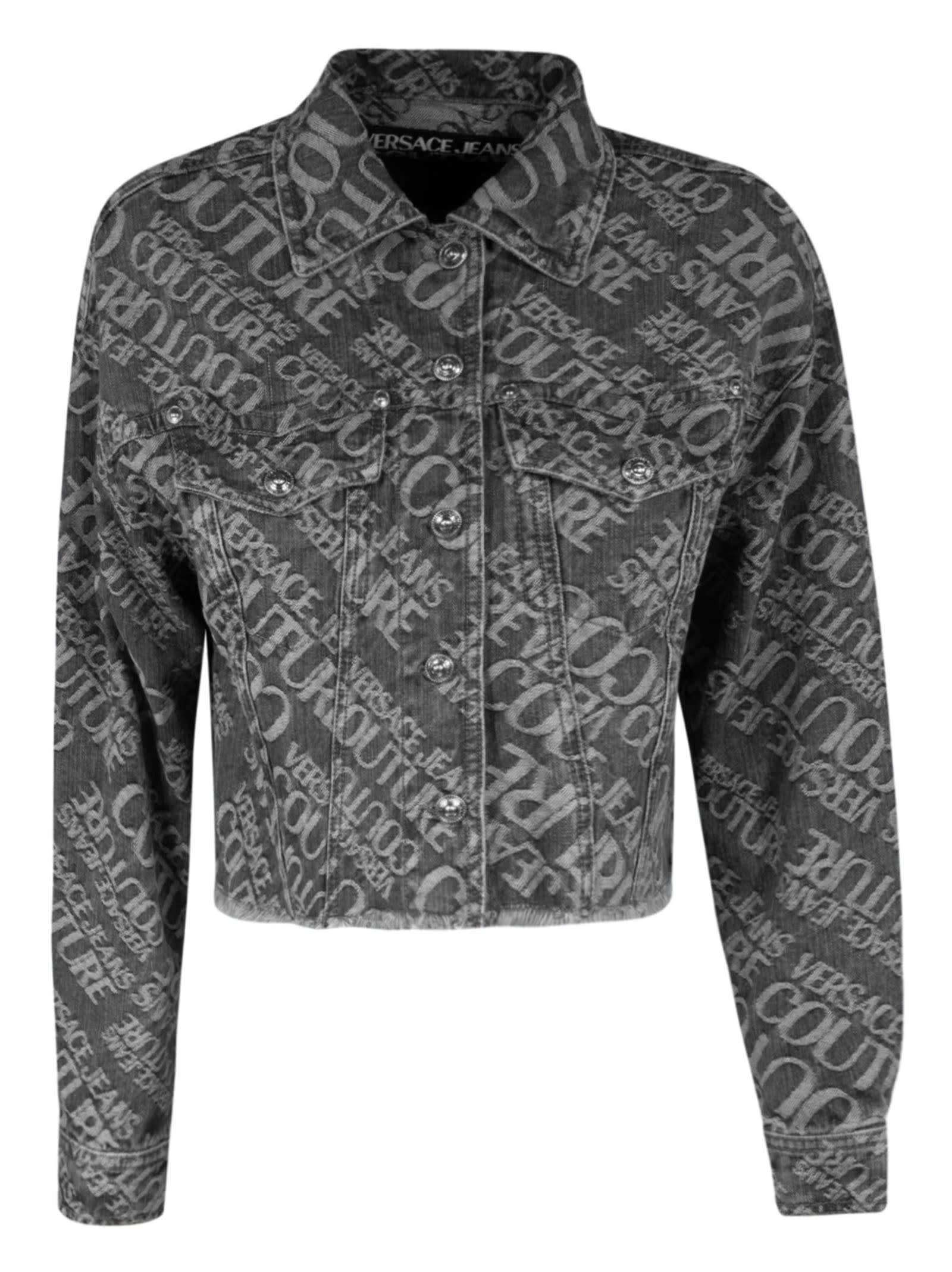 Versace Jeans Couture Logo Motif Print Denim Jacket