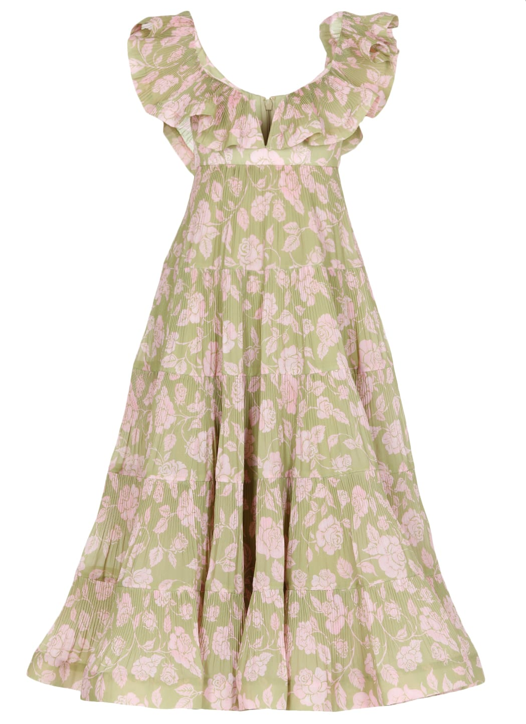 Buy The Lovestruck Pleated Dress online, shop Zimmermann with free shipping