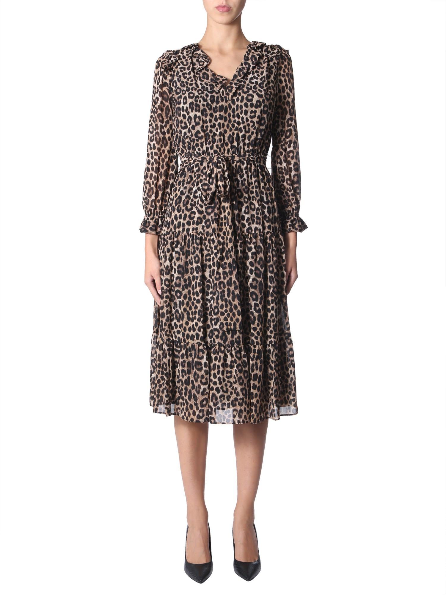 MICHAEL Michael Kors Leopard Print Dress