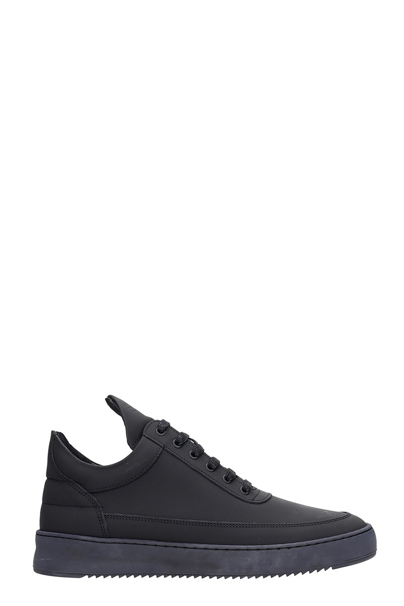 Filling Pieces Low Top Ripple Sneakers In Black Rubber/plasic
