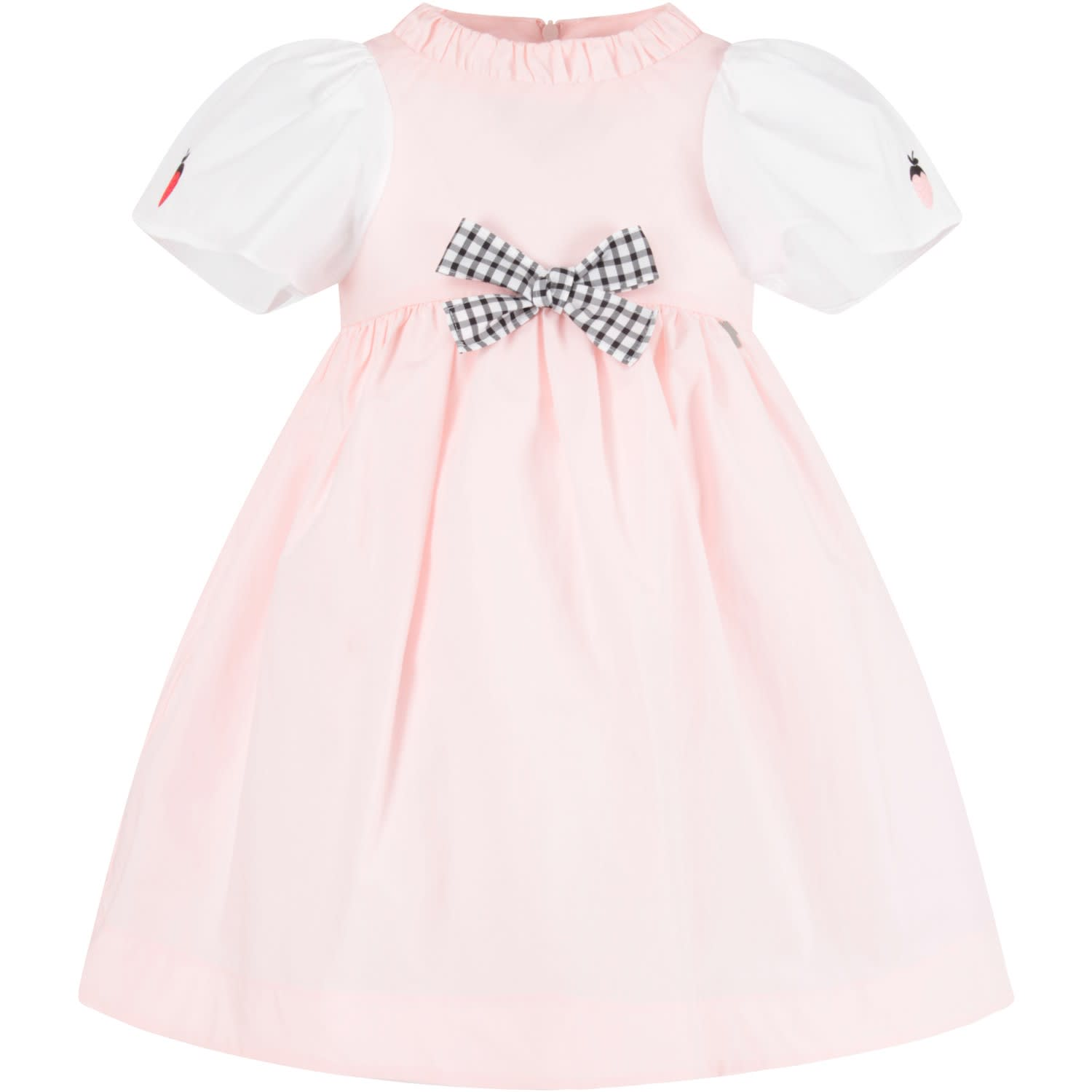 Buy Simonetta Pink Girl Dress With Bow online, shop Simonetta with free shipping