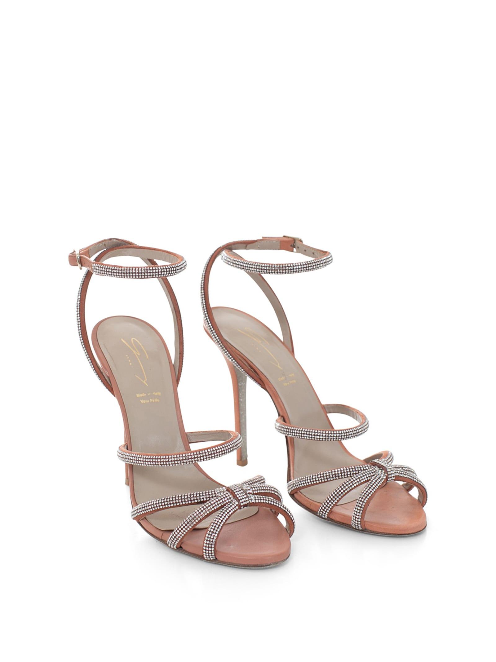 Crystals-embellished Leather Sandals