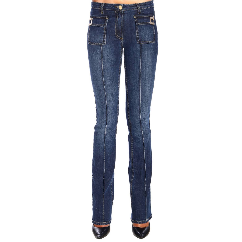 size 40 2a49a 5aed4 Elisabetta Franchi Jeans Slim-legged Elisabetta Franchi Jeans With Logo