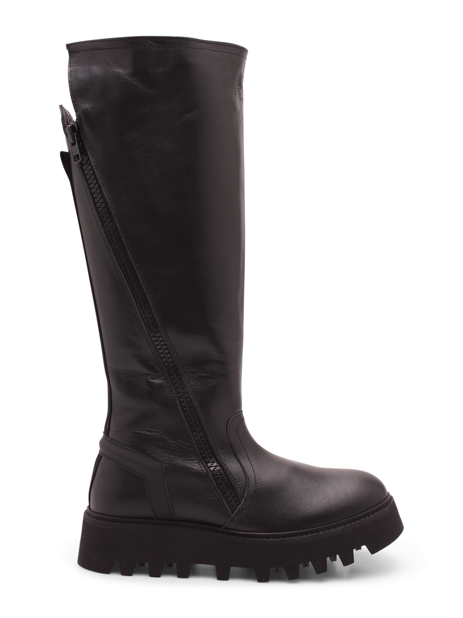 finger Calf Leather Boots
