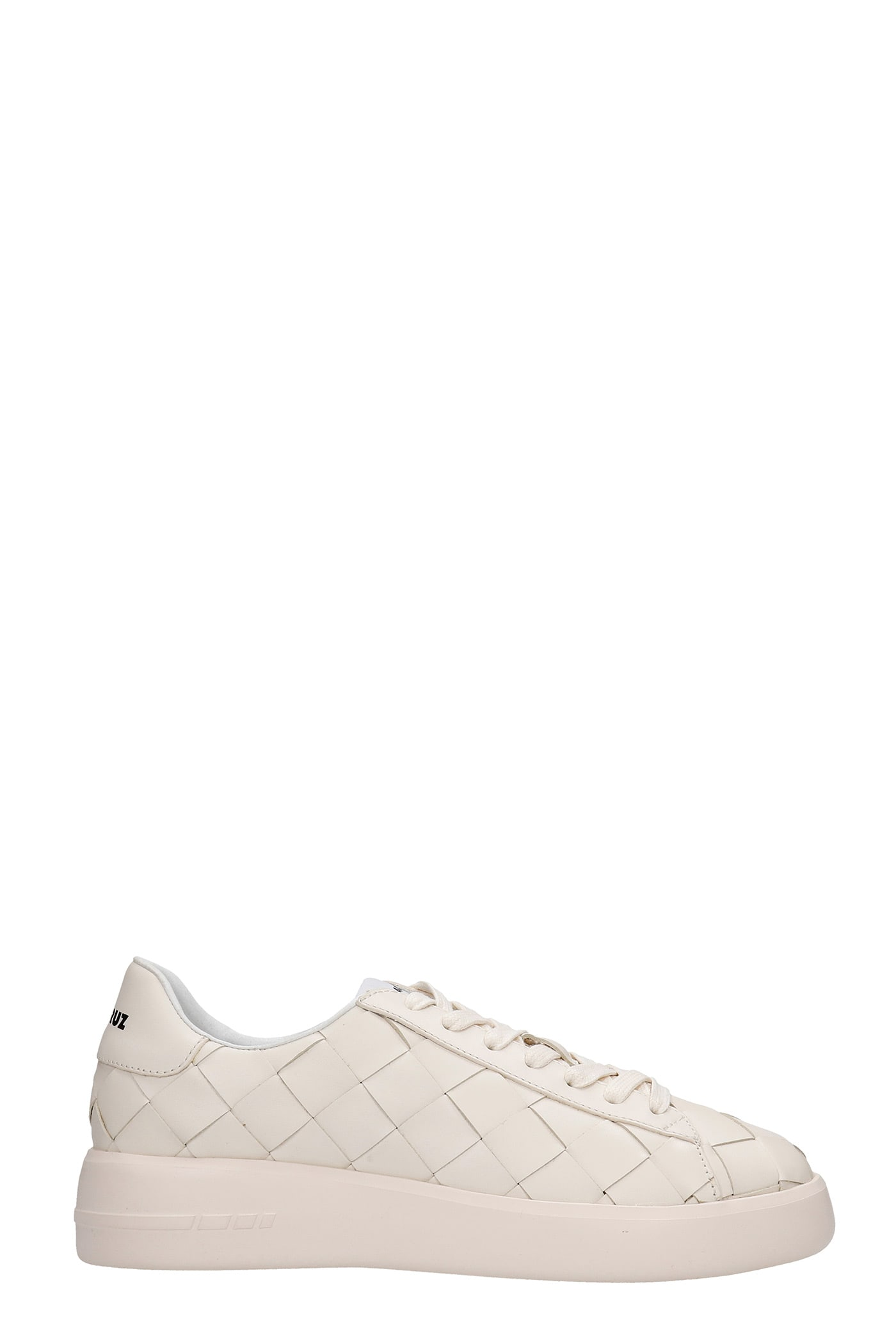 Sneakers In Beige Leather