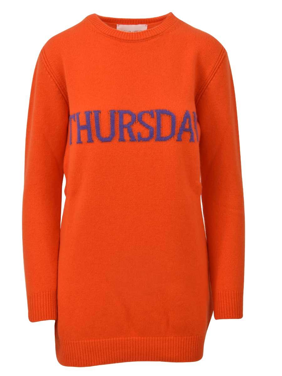 Alberta Ferretti Thursday Orange Mini Dress
