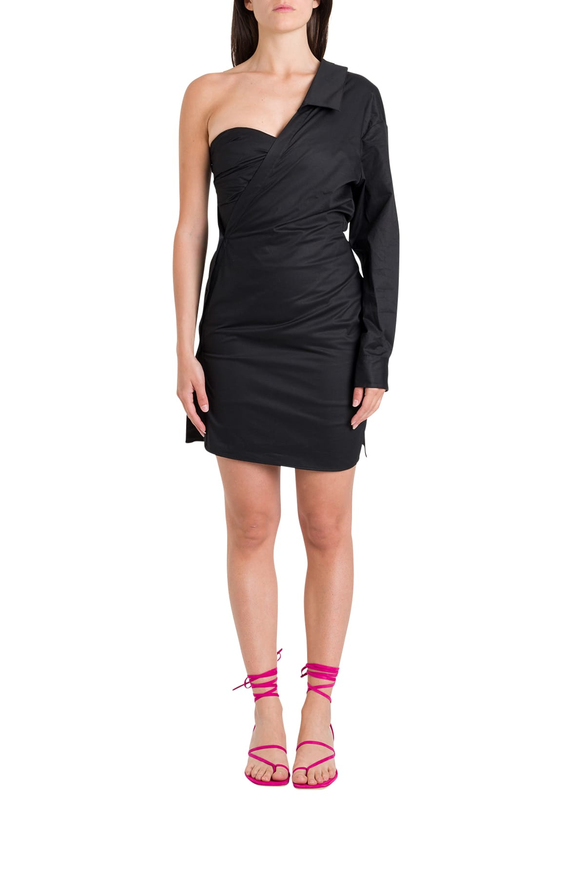 Buy RTA One-shoulder Wrapped Dress online, shop RTA with free shipping