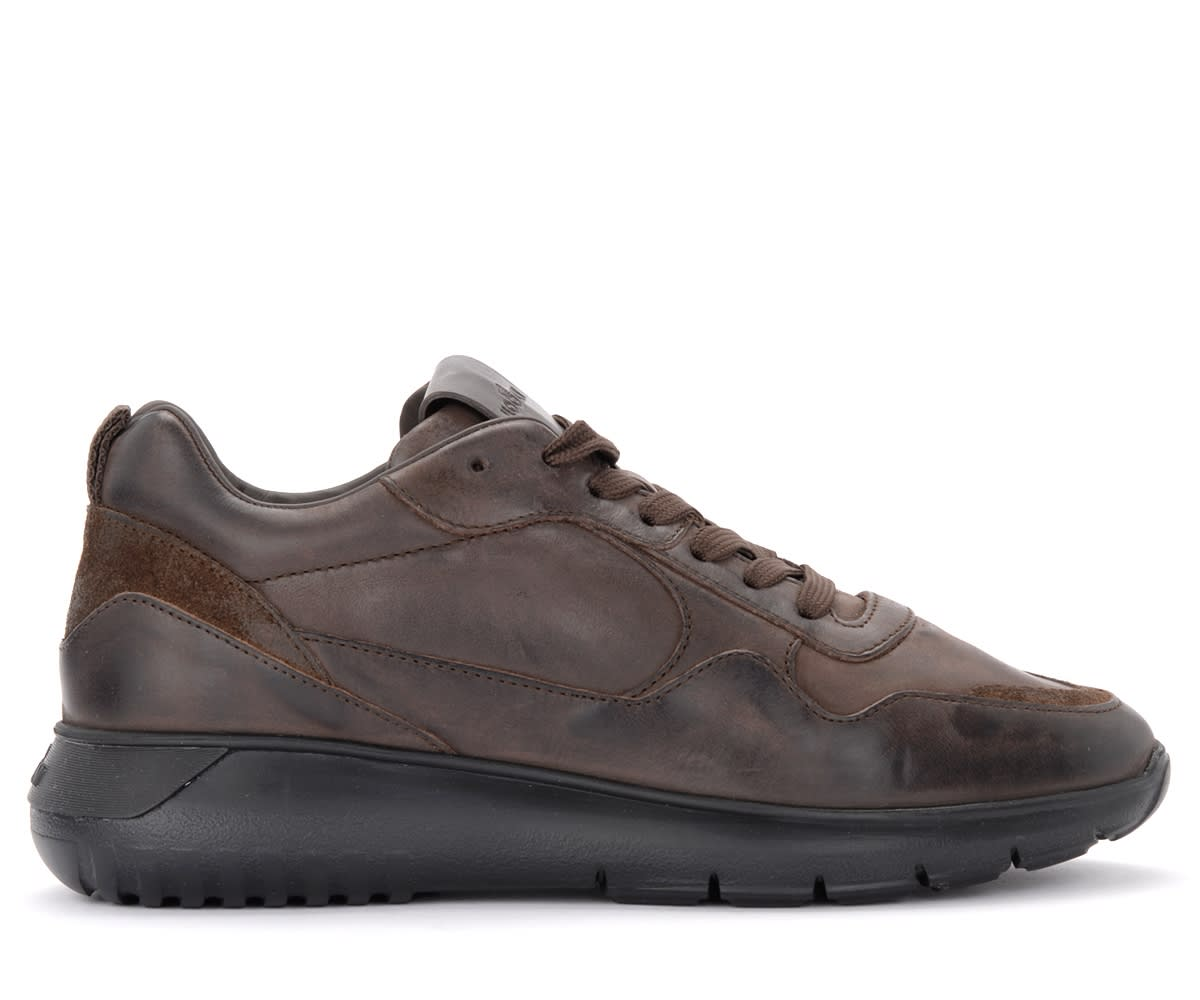Hogan Interactive³ Model Sneaker In Brown Shaded Leather