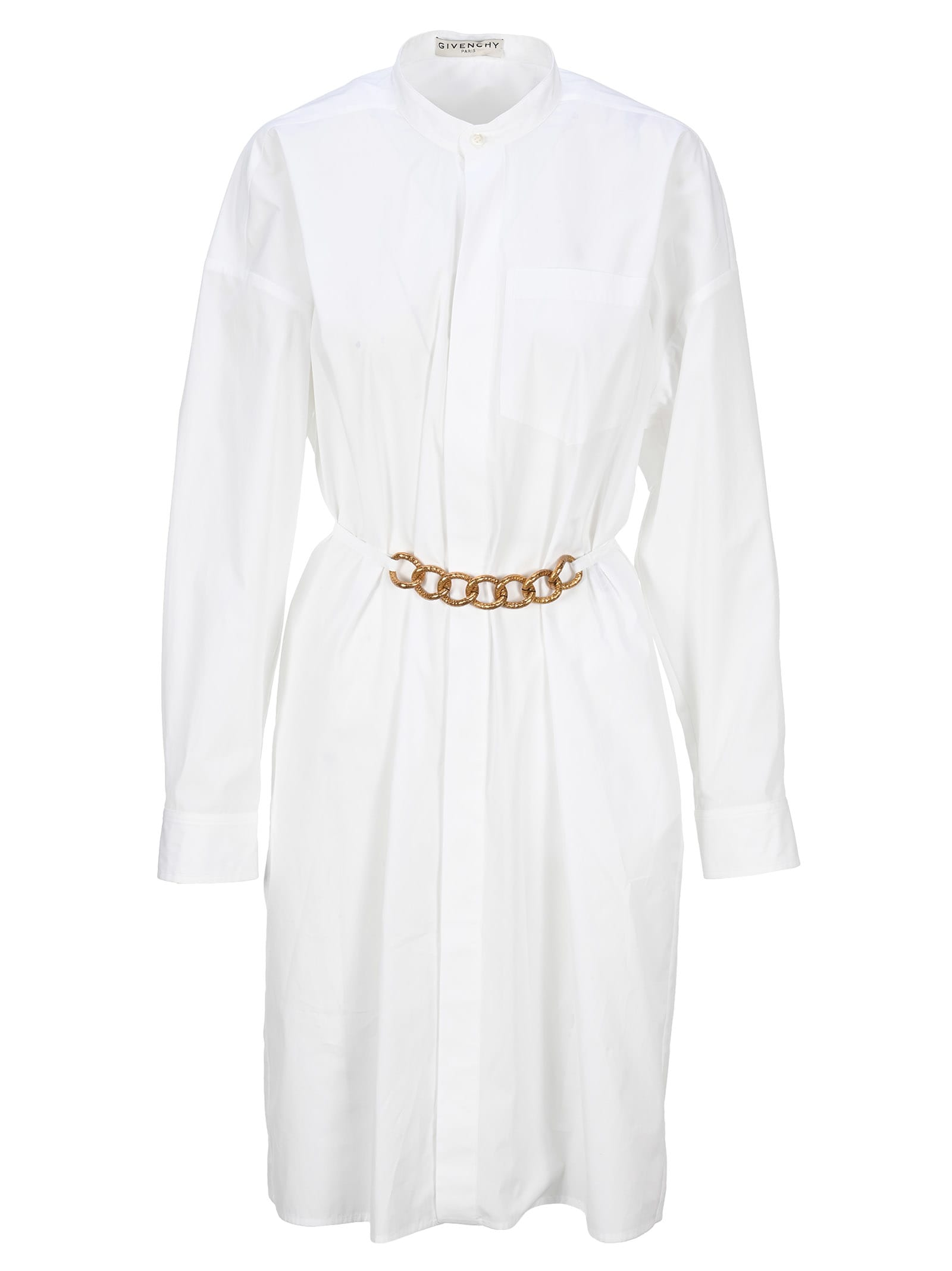 Givenchy Shirt Dress In Cotton With Chain Belt