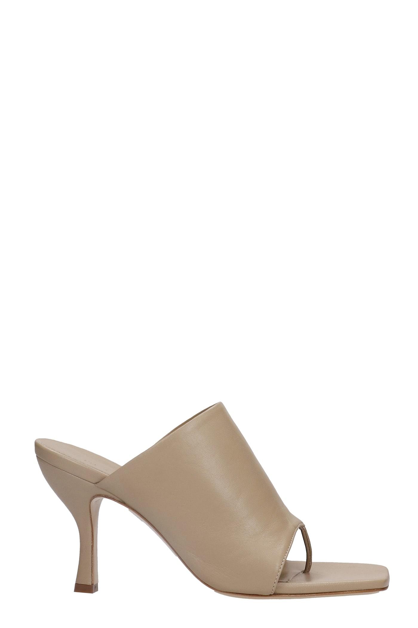 Perni Sandals In Beige Leather