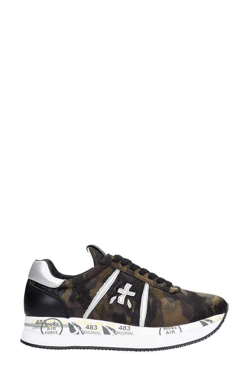 Premiata Conny Sneakers In Camouflage Tech/synthetic
