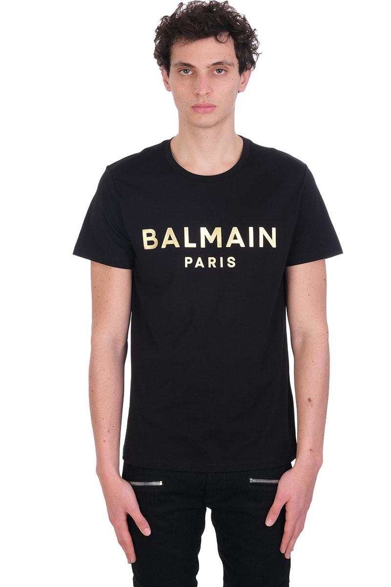Balmain Cottons T-SHIRT IN BLACK COTTON