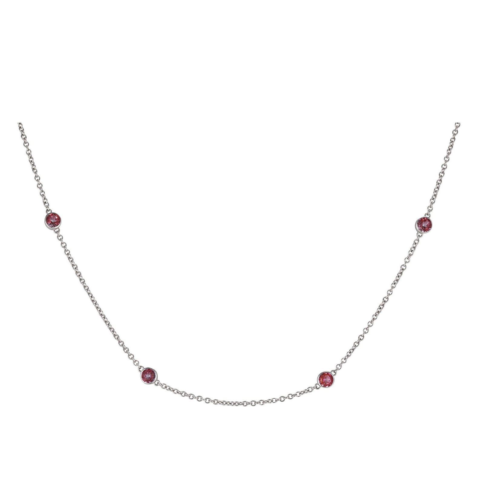 Lo Spazio Passion pink Topaz Necklace